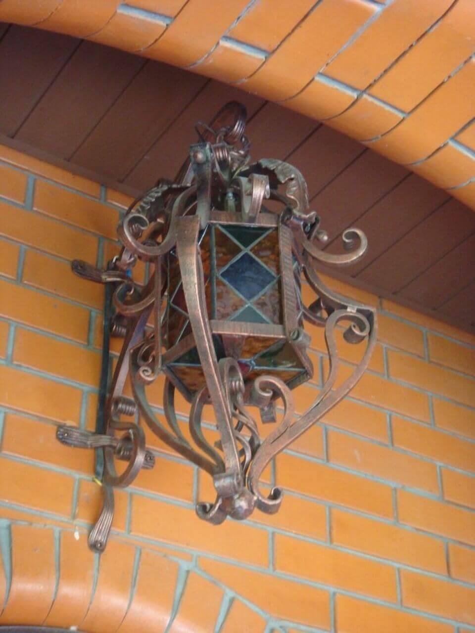 Кованые фонарные столбы своими руками